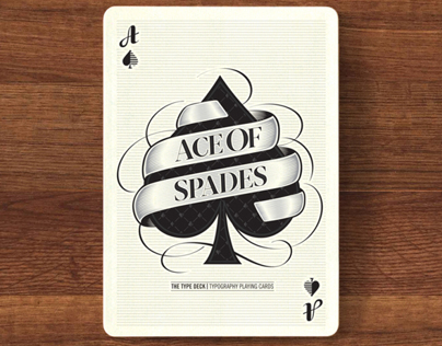 Ace of Spades. The Type Deck. Typographic Playing Cards