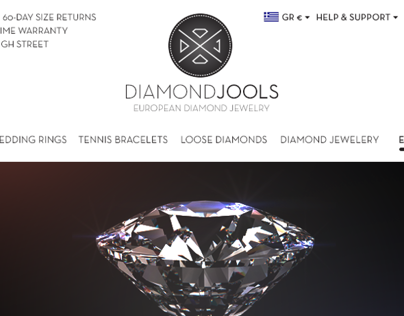 Diamond Jools E-shop Design