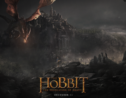 """The Hobbit: The Desolation Of Smaug"" Movie Poster"