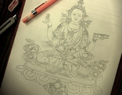 Thangka Painting Sketches.
