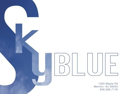 Sky Blue, Logo and Mailer Design