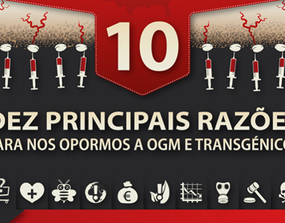 INFOGRAPHICS | NO GMO! (In Portuguese)
