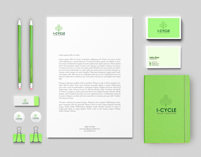 School Project ( i-Cycle Campaign Identity )