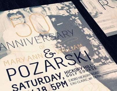 50th Anniversary Invites