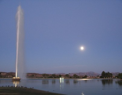 Fountain Hills and the Full Moon