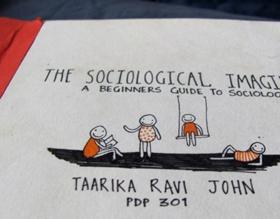 The Sociological Imagination - a handmade book