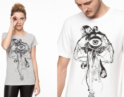 T-shirt prints for organic cotton brand Grønsag