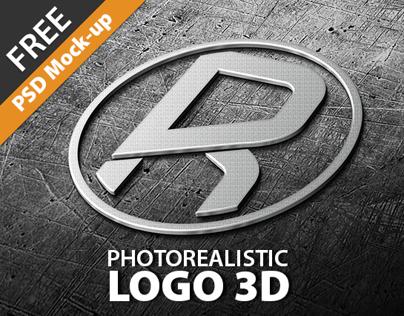 Photorealistic Logo 3D I Mock-Up I  FREE