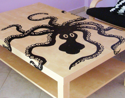 DIY Minoan Octopus table