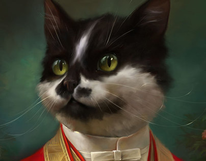 The Hermitage Court waiter cat