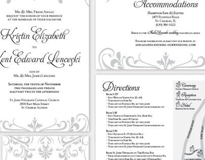 Kristin & Kent Wedding Invitations
