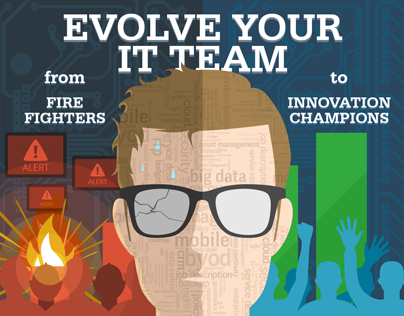 Evolve your IT team - infographic