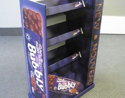 Bubbly Chocolate Bar Floorstand