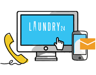 Laundry24 website and illustration set