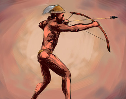 Digital Artwork - Diné Hunter