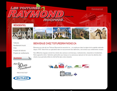 Site Internet Toitures Raymond
