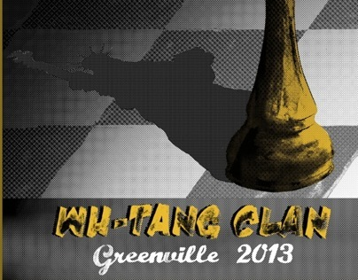 Wu Tang Clan - Gigposter for Greenville Festival 2013