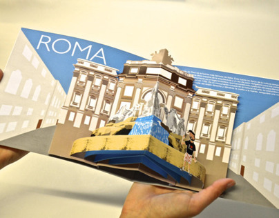 3D book printing: Trevi Fountain