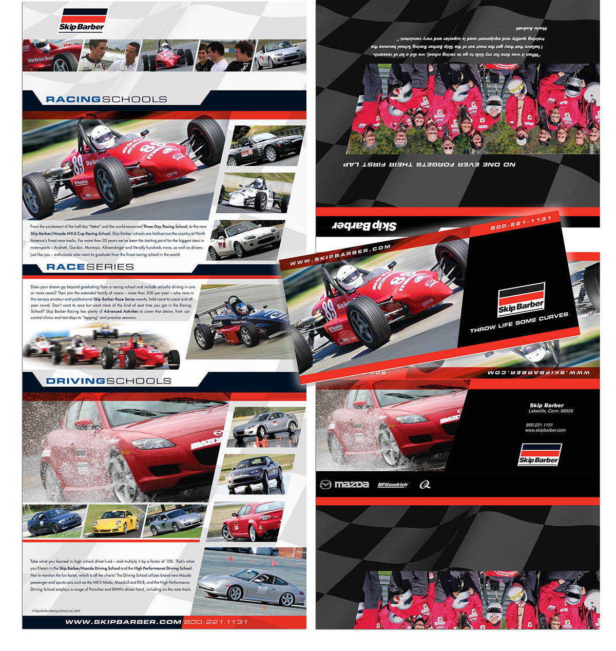 FERRARI & Skip Barber Racing School | Graphic Design