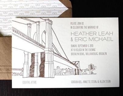 Brooklyn Wedding Invitation