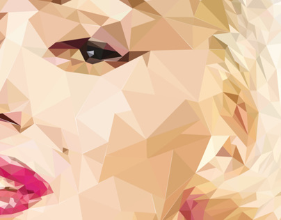 """Trianglized"" Marilyn Monroe Portrait"
