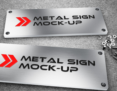 Metal Sign Mock-up