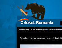 Cricketromania.com - design