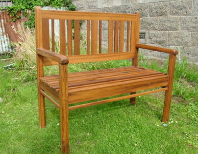Recycled Teak Bench Traditional-build, Modern