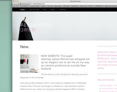 Alexandra Owen Website Design