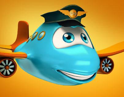 Mr. Plane 3D Character Design