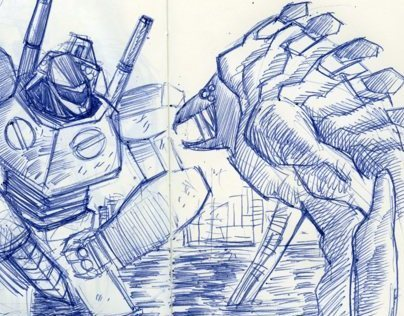 Pacific Rim Fan Art Sketch