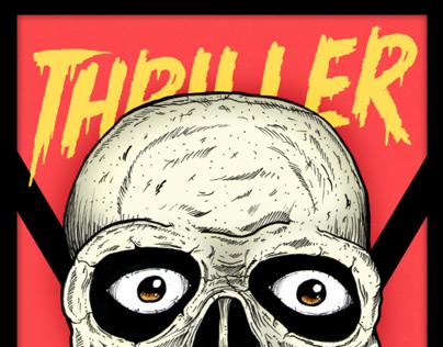 Thriller Skull.  A Michael Jackson Tribute