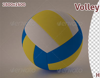 Volleyball 3D Render