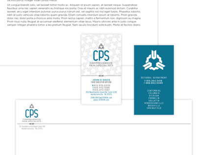 Comprehensive Pain Specialists branding