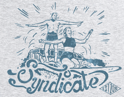 Surfing print for Syndicate
