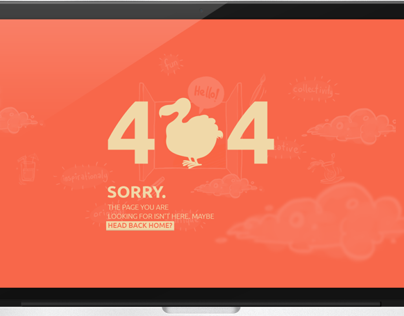 404 - Not Found / Flat Design