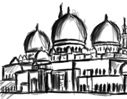 Illustration Mosque
