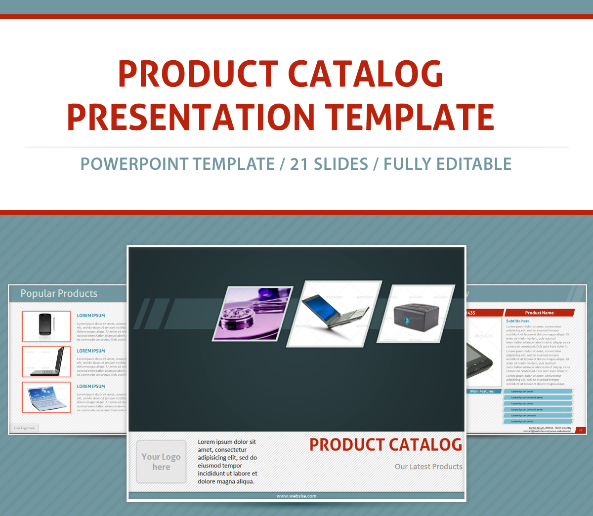 Product Catalog Powerpoint Presentation Template