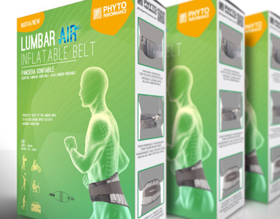 Lumbar AIR inflatable belt Packaging