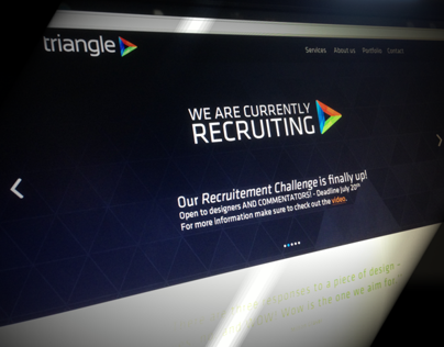 One Page Website Concept | Triangle