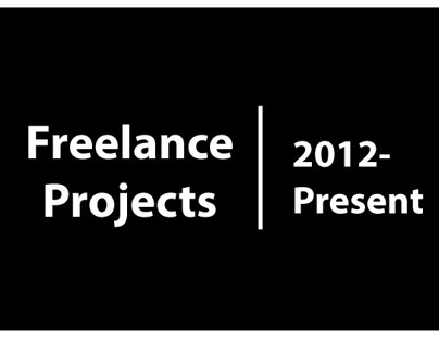 Freelance Projects- 2012 to present