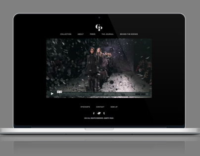 Gareth Pugh Website Redesign