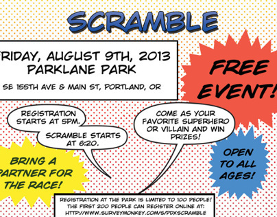 Parklane Superhero Scramble