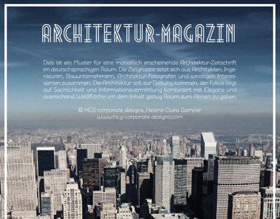 Architecture Magazine (prototype), Editorial Design