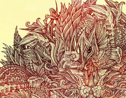 Botanical BioMorph Mandala