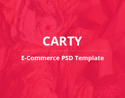 Carty - E-commerce PSD Template Theme