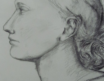 more drawing in pencil and charcoal