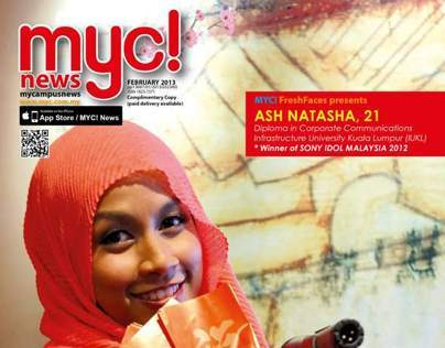 MYC! News magazine layout Feb 2013 issue