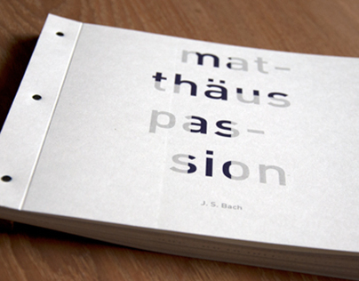 Matthaus Passion / book