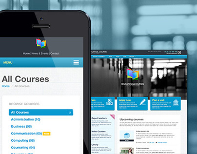 EDU - Educational, Courses, College with Megamenu